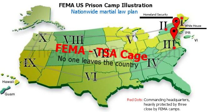 Is This Just Conspiracy FEMA Camps Real Or Fear Mongering The - Us fema instilation maps includi hawaii